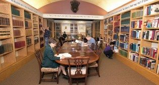 Reading Room of the McCracken Research Library