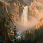 'Yellowstone Falls' by Albert Bierstadt. 2.63