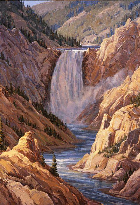"Kathy Wipfler's ""Lower Falls."" 10.07 (detail)"