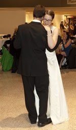 Bride and groom sharing a dance. Photo by Mary Giordano Brackett.