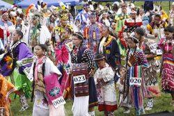 Plains Indian Museum Powwow: Grand Entry. Powwow01-KB