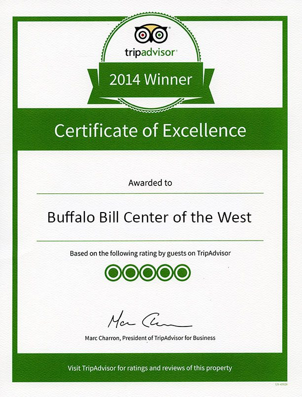 TripAdvisor Certificate of Excellence: Buffalo Bill Center of the West