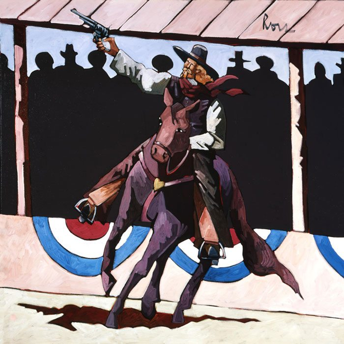 Thom Ross's 'Buffalo Bill Performing,' 2.07.2