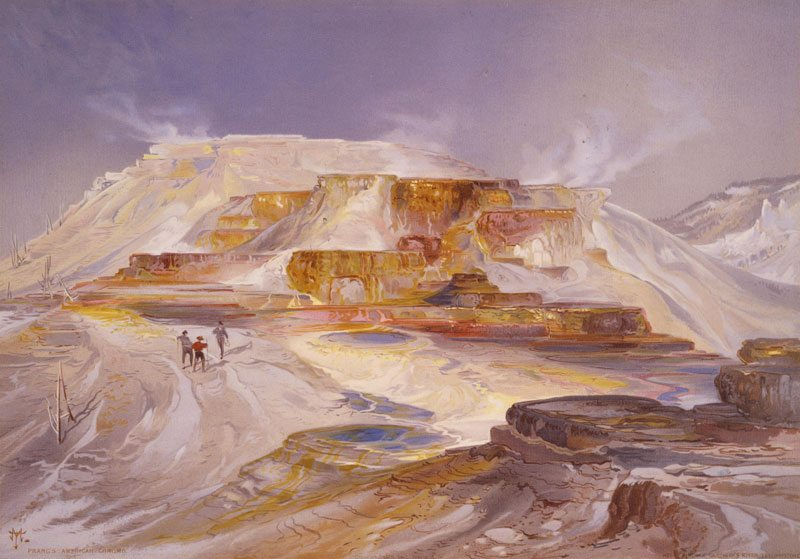 Still a fascinating destination when visiting Yellowstone, 'Mammoth Hot Springs' by Thomas Moran. 18.71.1
