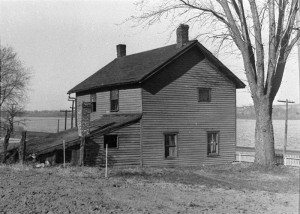 Isaac Cody (Buffalo Bill's father) home overlooking the Mississippi River at LeClaire, Iowa, ca. 1920. P.69.851