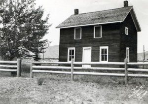 Boyhood home, July 10, 1950, on the grounds of the first Buffalo Bill Museum.