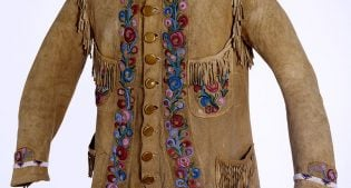 William F. Cody's buckskin jacket adorned with American and Cuban flags, ca. 1898. 1.69.784