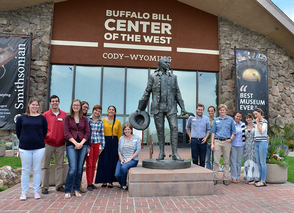 Recent interns at the Buffalo Bill Center of the West. The Center offers several internships each summer.