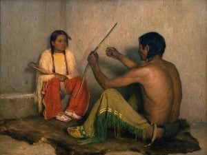 "Joseph Henry Sharp's ""The Broken Bow,"" ca. 1912. On loan to the Scottsdale Museum of Art. Museum Purchase. 7.75"