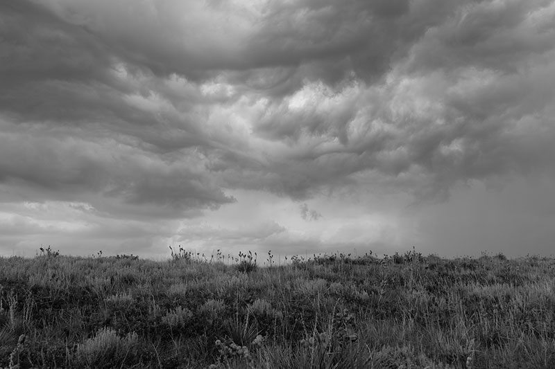 "Storm in Laramie County. Photo by Michael Berman, From ""Wyoming Grasslands."""