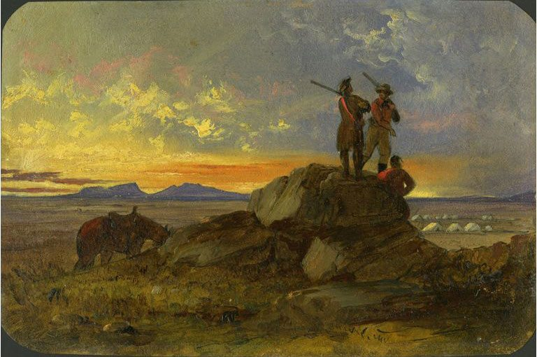 "John Mix Stanley (1814 - 1872). ""Untitled, Teton Valley Scene,"" 1855. 1.14"