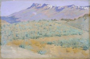 """Frederic Remington (1861 – 1909). """"Untitled (blue prairie),"""" ca. 1908. Gift of The Coe Foundation. 31.67"""