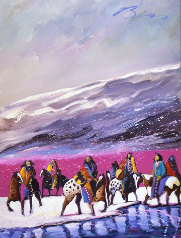 'Mountain Warriors before the Storm' by Earl Biss, 27.97.10