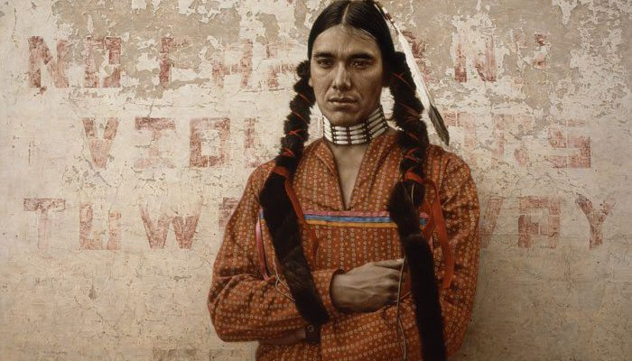ames Bama (b. 1926). A Contemporary Sioux Indian, 1978. Oil on panel. William E. Weiss Contemporary Fund Purchase. 19.78