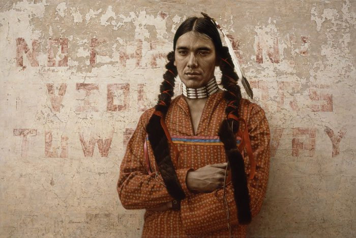 """""""A Contemporary Sioux Indian"""" by James Bama, 1978. 19.78"""