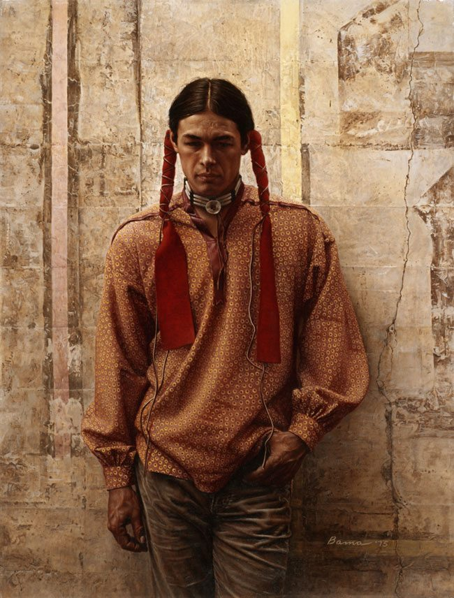 'A Young Oglala Sioux' by James Bama, 1975. 26.97