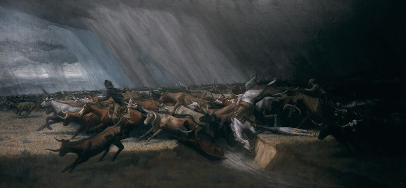 'The Stampede' by Harry Jackson. 29.65