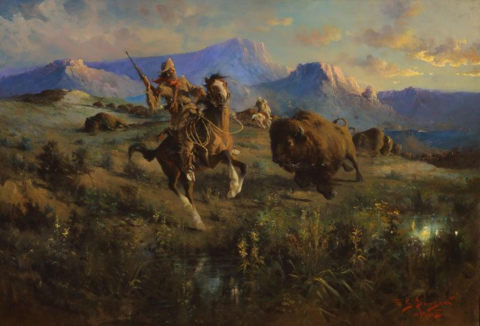 'Buffalo Hunt' by E.S. Paxson. 86.60