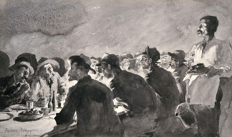 'The Mess Tent at Night' by Frederic Remington. 11.72