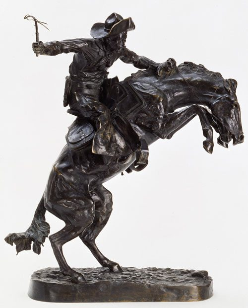 'The Broncho Buster' by Frederic Remington. 7.74