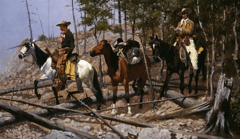 'Prospecting for Cattle Range' by Frederic Remington. 85.60
