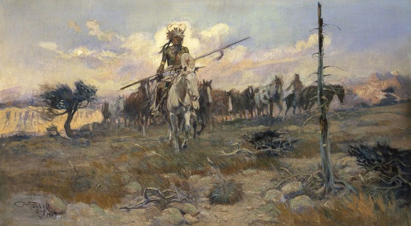 'Bringing Home the Spoils' by Charles M. Russell. 19.70