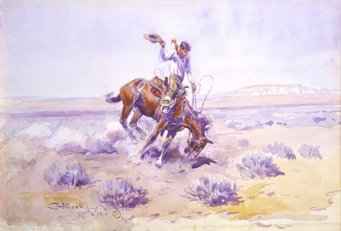 'Bronco Buster' by Charles M. Russell. 58.72