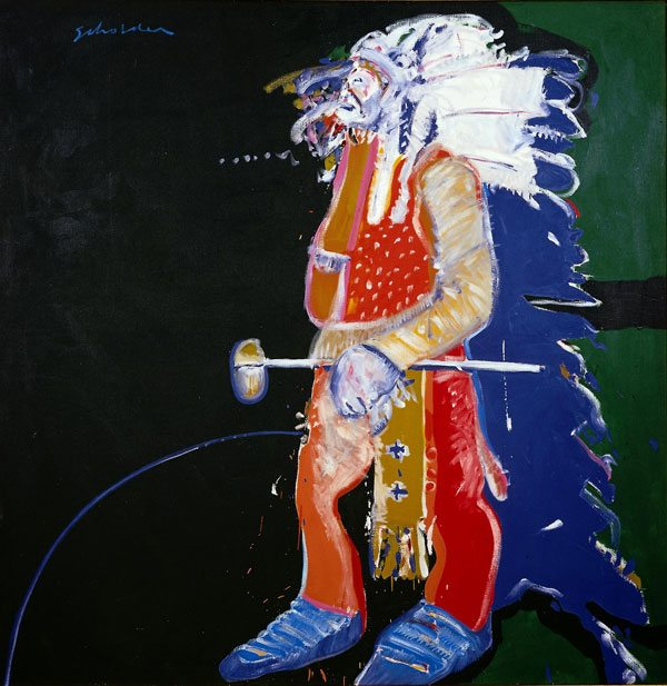 'Indian with Tomahawk' by Fritz Scholder. 15.77