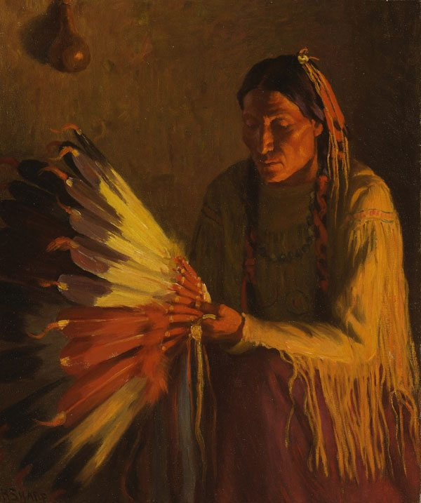 'The War Bonnet' by Joseph Henry Sharp. 24.61