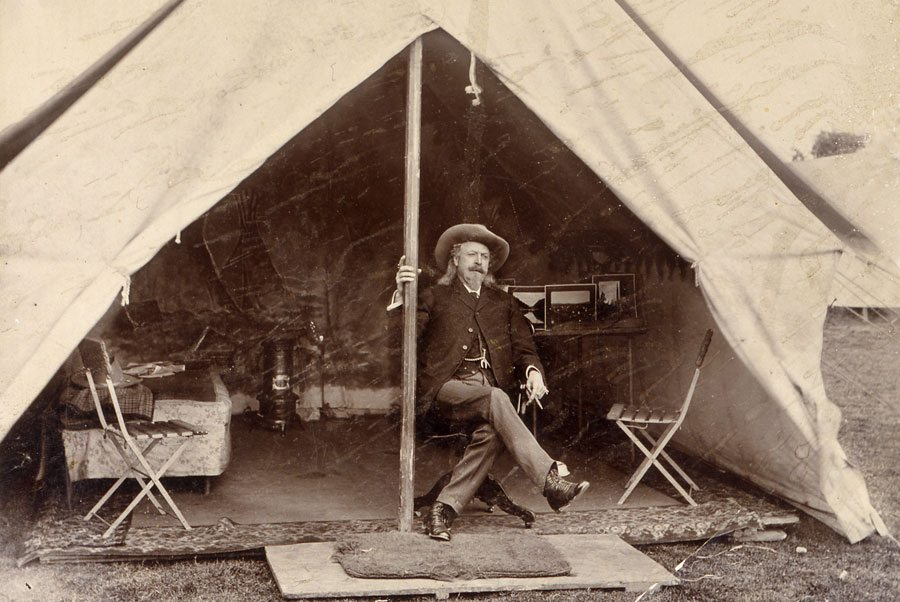 Buffalo Bill in tent. P.69.775. Photo courtesy of the Buffalo Bill Center of the West