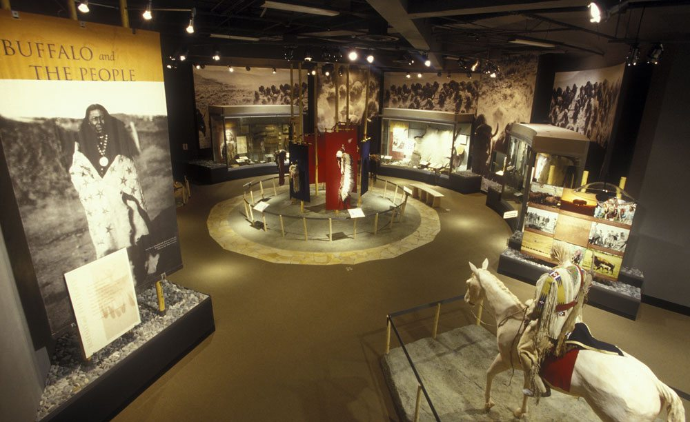 Buffalo and the People gallery in the Plains Indian Museum.