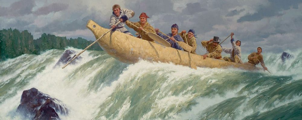 'The Corps of Discovery in the Great Shute of the Columbia' by Charles Fritz