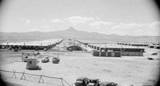 Heart Mountain Relocation Center barracks, 1942. PN.89.111.21236.5
