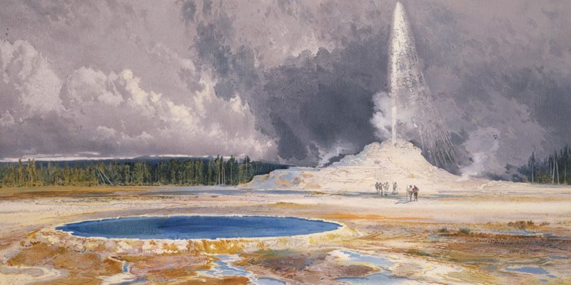 'Castle Geyser' by Thomas Moran. 18.71.3