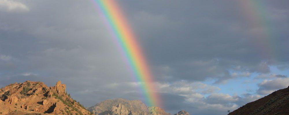 Rainbow, taken along the scenic drive between Cody and Yellowstone. C.R. Preston photo