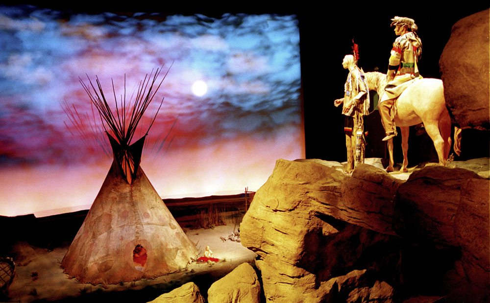 Collections and multimedia interact in the Plains Indian Museum