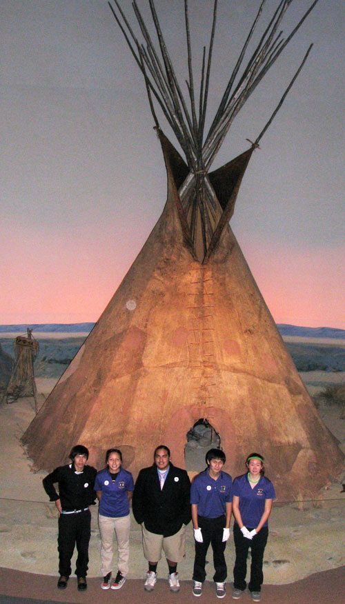 St. Labre school group in front of tepee