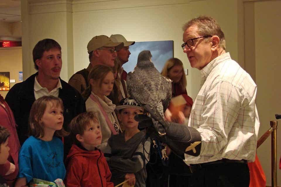 Patrick Telling Visitors about Hayabusa