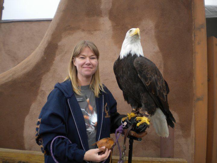 Me with Magissawa, a bald eagle.