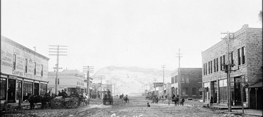 Cody, Wyoming, in 1910. Buffalo Gals Luncheon. PN.89.110.21178.5