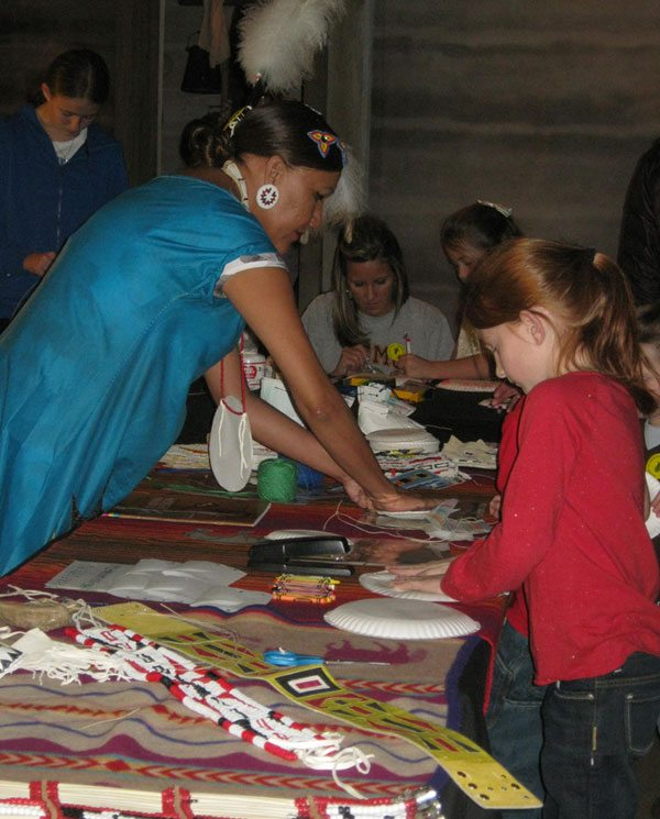 Yufna Soldier Wolf teaches crafts at the Buffalo Bill Center of the West.