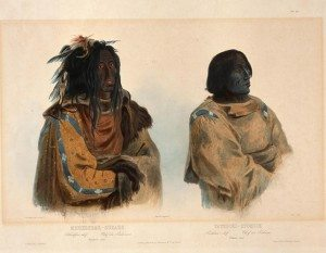 "Karl Bodmer's ""Blackfoot Chief and Piegan Chief. "" 21.69.75"