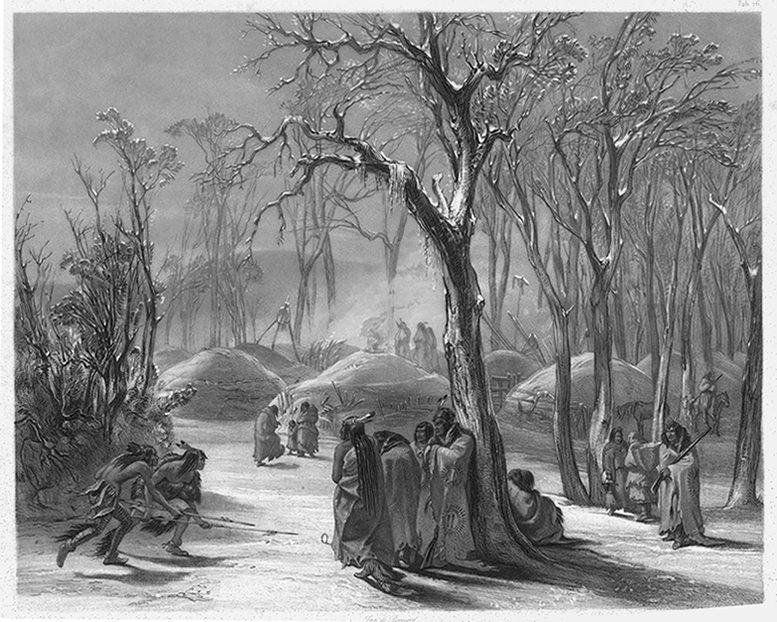 "Karl Bodmer's ""Winter Village of the Minatarees."" 21.69.27"