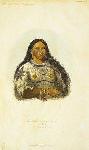 "George Catlin's ""Mi-neek-ee-sunk-te-ka, The Mink, a Mandan Girl."" 23.85.12"