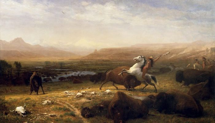 "Albert Bierstadt's ""The Last of the Buffalo,"" ca. 1888. Oil on canvas. Gertrude Vanderbilt Whitney Trust Fund Purchase. 2.60"
