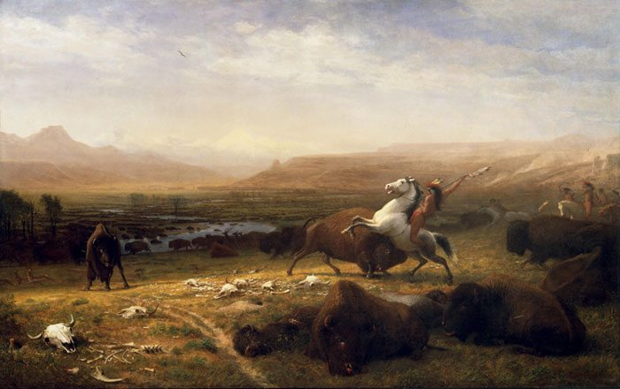 Albert Bierstadt (American, born Germany, 1830–1902). The Last of the Buffalo, ca. 1888. Oil on canvas, 60.25 x 96.5 inches. Buffalo Bill Center of the West, Cody, Wyoming. Gertrude Vanderbilt Whitney Trust Fund Purchase. 2.60