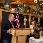 Prince Albert II receives 'On Common Ground' sculpture from artist Herb Mignery