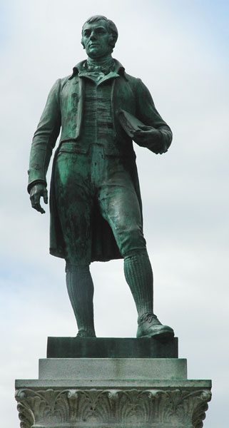 Robert Burns statue in Cheyenne, Wyoming