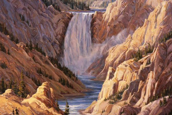 "Kathy Wipfler's ""Lower Falls of the Yellowstone,"" 2006. Gift of the Mary A.H. Rumsey Foundation. 10.07"