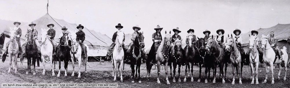 Cowboys and cowgirls of the 101 Ranch show. P.69.949_306